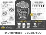 vintage beer menu design.... | Shutterstock .eps vector #780887500