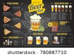 vintage chalk drawing beer menu ... | Shutterstock .eps vector #780887710