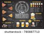 vintage chalk drawing beer menu ... | Shutterstock .eps vector #780887713