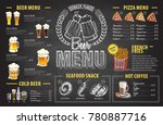 vintage chalk drawing beer menu ... | Shutterstock .eps vector #780887716