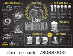 vintage chalk drawing beer menu ... | Shutterstock .eps vector #780887800