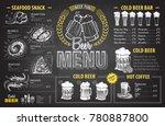 vintage chalk drawing beer menu ... | Shutterstock .eps vector #780887800