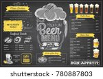 vintage chalk drawing beer menu ... | Shutterstock .eps vector #780887803