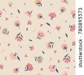 vintage blossom  floral pattern ... | Shutterstock .eps vector #780895573