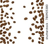 background with coffee beans... | Shutterstock .eps vector #780905380