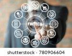 businessman using virtual... | Shutterstock . vector #780906604
