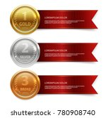 champion gold  silver and... | Shutterstock .eps vector #780908740