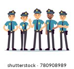 Group Of Police Officers. Woman ...