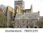 The old church of Grator in france - stock photo