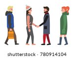 friends and people set  blond... | Shutterstock .eps vector #780914104