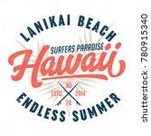 hawaii  surfers paradise   tee... | Shutterstock .eps vector #780915340