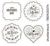 happy mother's day. set of... | Shutterstock .eps vector #780920374