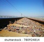 A Low Angle Shot Of A Railway...