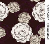 purple and white rose flower... | Shutterstock .eps vector #780928873
