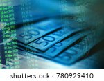 euro banknotes.macro image. | Shutterstock . vector #780929410