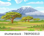 decorative landscape   the... | Shutterstock .eps vector #780930313