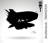 black brush stroke and texture. ... | Shutterstock .eps vector #780932524