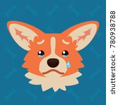 corgi dog emotional head.... | Shutterstock .eps vector #780938788