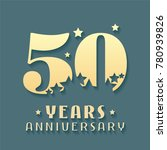 50 years anniversary vector... | Shutterstock .eps vector #780939826