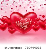 hearts and glowing light effect ... | Shutterstock .eps vector #780944038