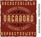 "original label typeface called ""... | Shutterstock .eps vector #780944944"