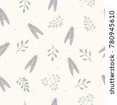 silhouette vector seamless... | Shutterstock .eps vector #780945610