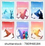 set banners of winter sport.... | Shutterstock .eps vector #780948184