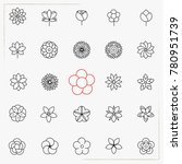 flower line icons set | Shutterstock .eps vector #780951739