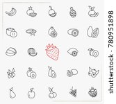 berries and fruits line icons... | Shutterstock .eps vector #780951898