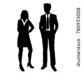 vector silhouettes of man and... | Shutterstock .eps vector #780953008