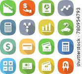 flat vector icon set   crisis... | Shutterstock .eps vector #780954793