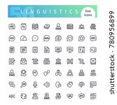 set of 56 linguistics line... | Shutterstock .eps vector #780956899