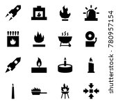 origami style icon set   rocket ... | Shutterstock .eps vector #780957154