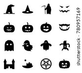 origami style icon set   witch... | Shutterstock .eps vector #780957169