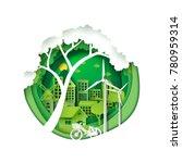 green eco friendly city and... | Shutterstock .eps vector #780959314