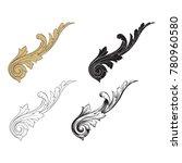 classical baroque vector set of ... | Shutterstock .eps vector #780960580