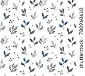 seamless floral pettern.... | Shutterstock . vector #780960610