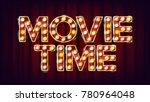movie time poster vector....   Shutterstock .eps vector #780964048