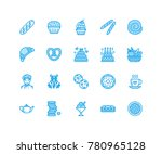 bakery  confectionery flat line ... | Shutterstock .eps vector #780965128