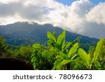The mountain views near San Jose, Costa Rica - stock photo
