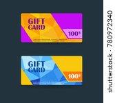 gift card 100 voucher vector... | Shutterstock .eps vector #780972340