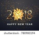 vector stock gold 2018...   Shutterstock .eps vector #780983194