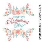 happy valentine's day card | Shutterstock .eps vector #780988276