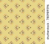 new color seamless pattern with ... | Shutterstock .eps vector #780989596
