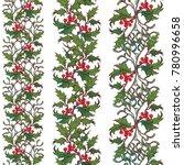 set of christmas ornamental...   Shutterstock .eps vector #780996658