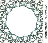christmas floral circular frame ...   Shutterstock .eps vector #780996664