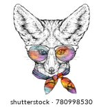 hand drawn portrait of cute... | Shutterstock .eps vector #780998530