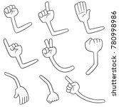 vector set of cartoon arms | Shutterstock .eps vector #780998986