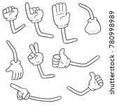 vector set of cartoon arms | Shutterstock .eps vector #780998989