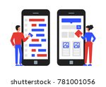 mobile application development. ... | Shutterstock .eps vector #781001056
